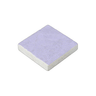 Periwinkle Blue and White Geometric Pattern Stone Magnet