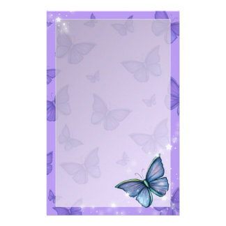 Periwinkle Blue Butterfly Fantasy Art Personalised Stationery