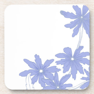 Periwinkle Blue Daisies Cork Coaster Set