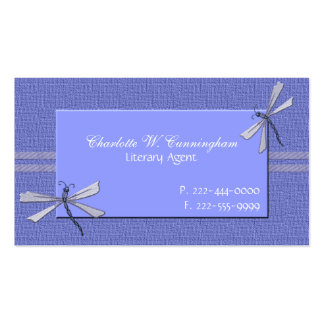 Periwinkle Blue Dragonflies Custom Business Card