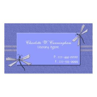 Periwinkle Blue Dragonflies Custom Business Card