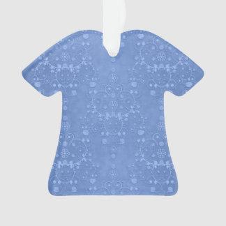 Periwinkle Blue Fancy Damask Pattern