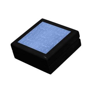 Periwinkle Blue Fancy Floral Damask Pattern Keepsake Box