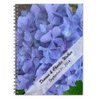 Periwinkle Blue Hydrangea Wedding Guest Notebook