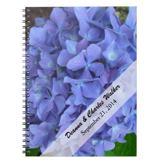 Periwinkle Blue Hydrangea Wedding Guest Notebook