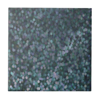 Periwinkle Blue Painted Glitter Shimmer Small Square Tile