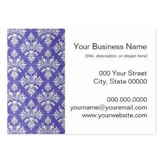 Periwinkle Blue Purple Artichoke Damask Pattern Pack Of Chubby Business Cards