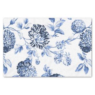 Periwinkle Blue Vintage Floral Toile No.2 Tissue Paper