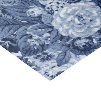Periwinkle Blue Vintage Floral Toile No.3 Tissue Paper
