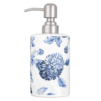 Periwinkle Blue & White Botanical Floral Toile No2 Bathroom Set
