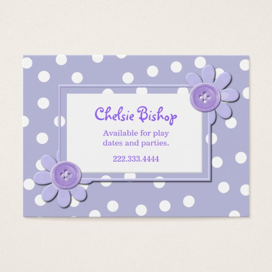 Periwinkle Blue & White Polka Dots Play date