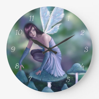 Periwinkle Fairy Wall Clock
