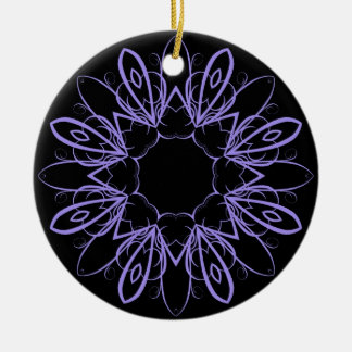 Periwinkle fancy mandala christmas ornament