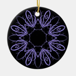 Periwinkle fancy mandala ornament