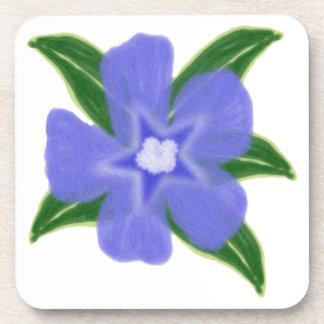 Periwinkle Flower Coasters