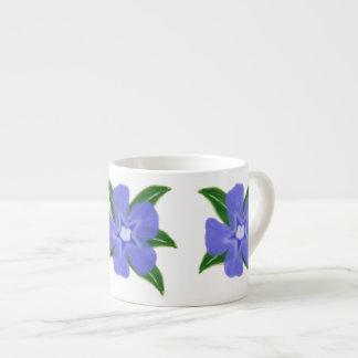 Periwinkle Flower Espresso Mug 6 Oz Ceramic Espresso Cup