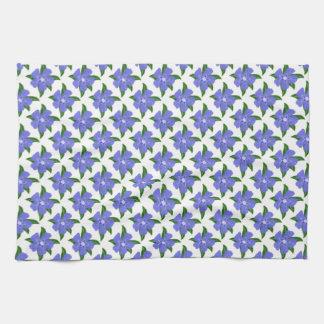 Periwinkle Flower Kitchen / Tea Towel