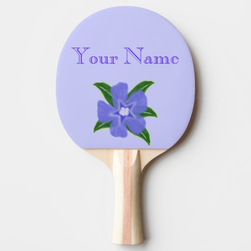 Periwinkle Flower Ping Pong Paddle Ping Pong Paddle