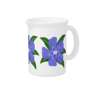 Periwinkle Flower Pitcher