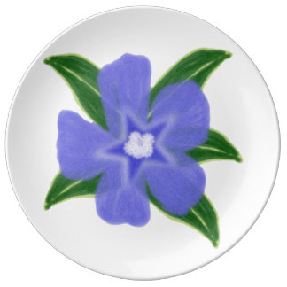 Periwinkle Flower Porcelain Plate