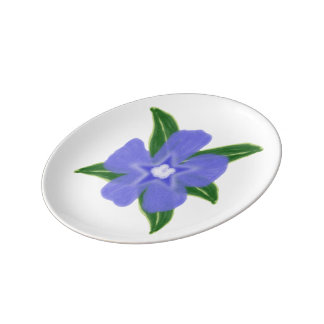 Periwinkle Flower Small Porcelain Plate