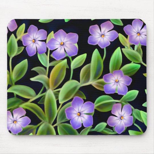 Periwinkle Flowers Mousepad