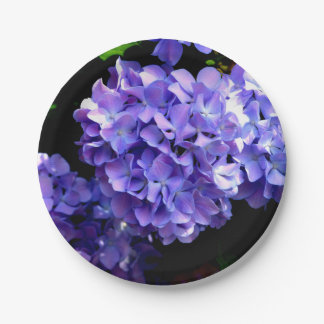 Periwinkle Hydrangea 7 Inch Paper Plate