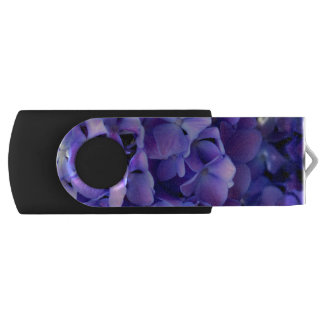 Periwinkle Hydrangea Swivel USB 3.0 Flash Drive