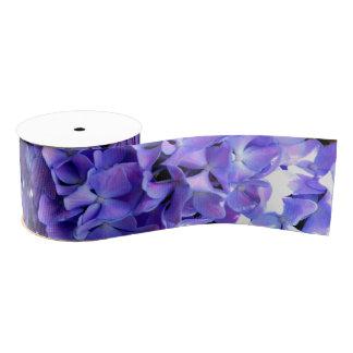 Periwinkle hydrangeas grosgrain ribbon