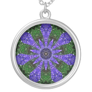 Periwinkle Kaleidoscope Silver Plated Necklace