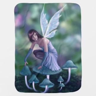 Periwinkle Mushroom Fairy Baby Blanket