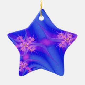 Periwinkle Pleasure Ceramic Star Decoration