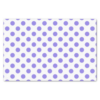 Periwinkle polka dots tissue paper