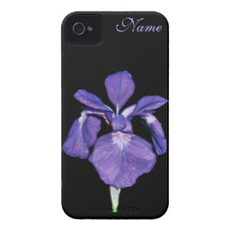 Periwinkle Purple Iris Personalized iPhone Case Case-Mate iPhone 4 Case