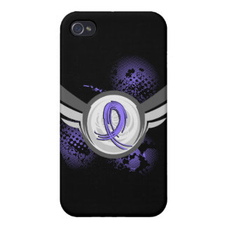 Periwinkle Ribbon And Wings Stomach Cancer iPhone 4/4S Cases