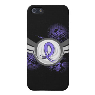 Periwinkle Ribbon And Wings Stomach Cancer Cases For iPhone 5