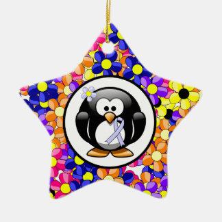 Periwinkle Ribbon Penguin Christmas Ornament