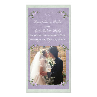 Periwinkle Wedding Announcement Photo Card
