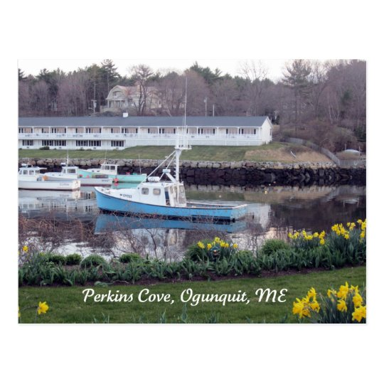 Perkins Cove, Ogunquit, Maine Postcard