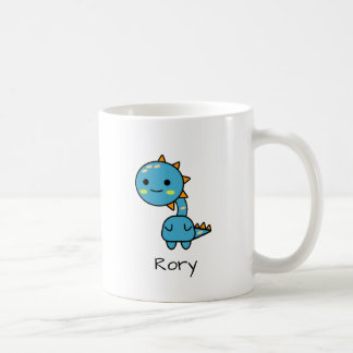 Perky Blue Dinosaur Kawaii Cartoon Coffee Mug