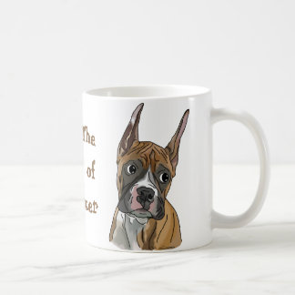 Perky Boxer Dog Basic White Mug
