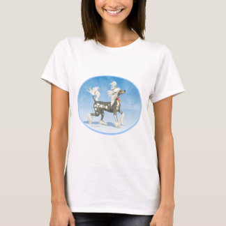 Perky Hairless Chinese Crested Dog t Shirts