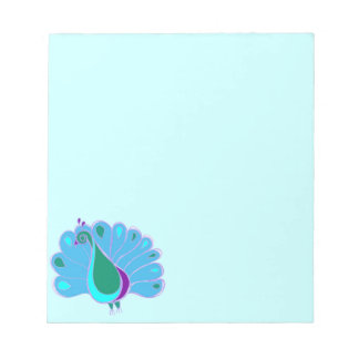 Perky Peacock Graphic Notepad
