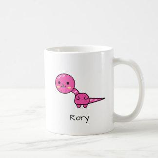 Perky Pink Dinosaur Kawaii Cartoon Coffee Mug