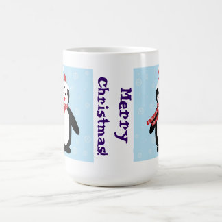 Perky Pretty Penguin in the Snow (Customize It!) Basic White Mug
