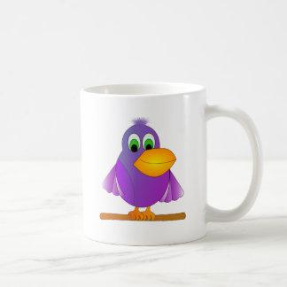 Perky Purple Bird Coffee Mug