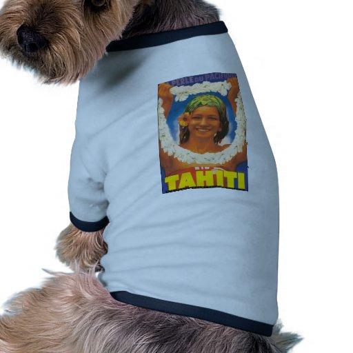 Perle Du Pacifique Tahiti, Vintage Ringer Dog Shirt