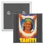 Perle Du Pacifique Tahiti, Vintage Pinback Buttons