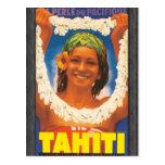 Perle Du Pacifique Tahiti, Vintage Postcard