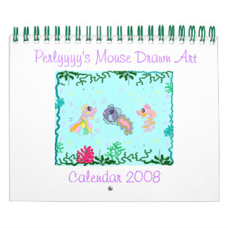 Perlyyyy's Mouse Drawn Art Wall Calendars